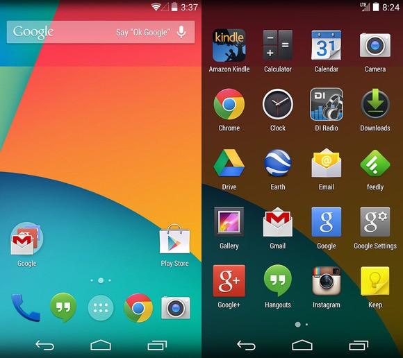 kitkat-ui1- سیستم عامل Android