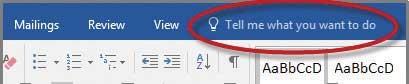 جعبه یTell Me - دوره آموزش کامل Word 2016