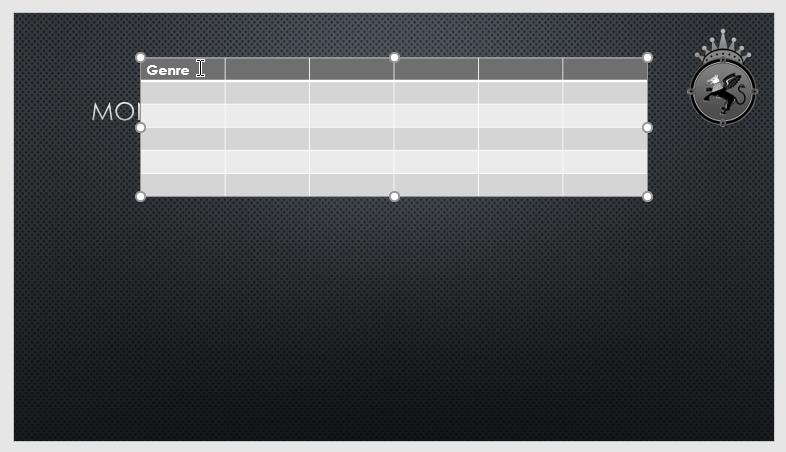 نتیجه درج جدول