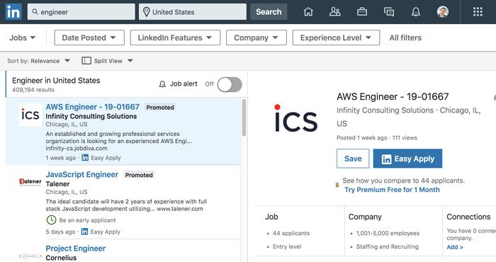 ابزار جستجوی شغلی در لینکدین - آموزش تخصصی شبکه اجتماعی linkedin