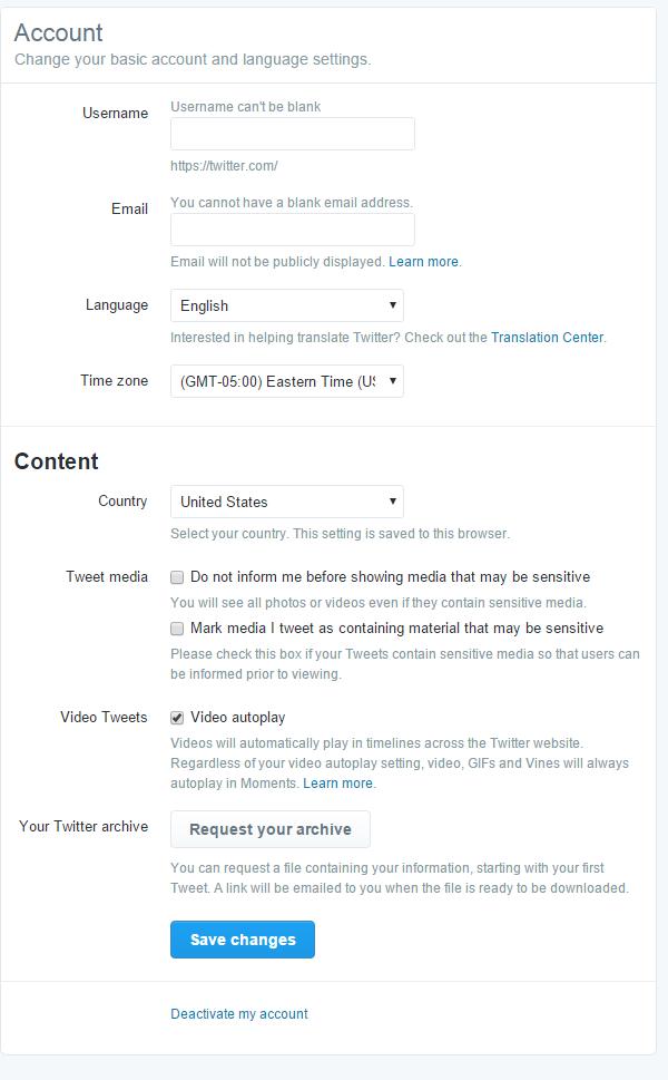 عناصر موجود در پروفایل حساب کاربری ( ایجاد حساب توییتر و مدیریت پروفایل توییتر )