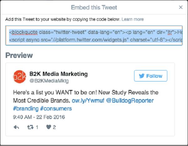 جاسازی توییت های حاوی تصویر، ویدیو و ... ( آموزش کار با توییت های Embeddable شده در توییتر )