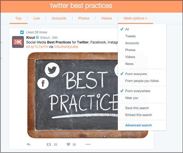 بهترین روش های جستجو در توییتر